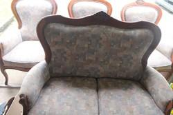 Antik barok szalongarnitura ,kanapé 3 fotel