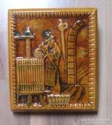 Zsolnay csempe, falikép  (1050)