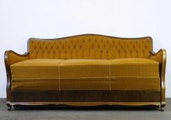0E360 Régi kinyitható neobarokk kanapé