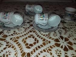 Kínai porcelán feketekávés készlet