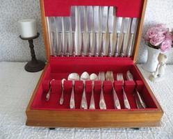 Angol, ezüstözött evőeszköz készlet