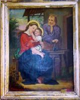 Franz Eder Szent család, antik festmény, 1872.