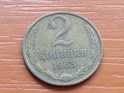 SZOVJETUNIÓ 2 KOPEJKI 1963