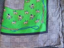 Retro lovas selyemkendő, kendő