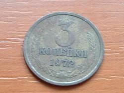 SZOVJETUNIÓ 3 KOPEJKI 1972