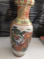 Porcelán kínai mintás vázapár