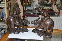 2 darab kínai fa figura