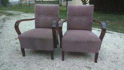 Szép állapotú megkímélt frissen tisztított régi rugós art deco fotel eladó - 2db
