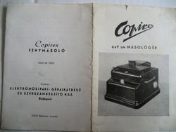 Copirex fénykép előhívó készülék teljes tartozékokkal eredeti dobozban