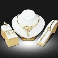 Arany színű csodaszép kollekció szett nyakék karkötő gyűrű fülbevaló