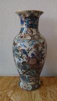 Kézifestésű kinai meseszép jelzett porcelán nagy váza