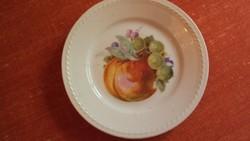 Gyümölcs mintás süteményes tányér,pöttyözött széllel,(különleges márkajellel)-pótlásnak..