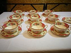 Varázslatos Extrém ritka Angol  porcelán Royal Albert Lady Carlyle,9db.leveses csészék+csészealjak.