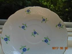 Herendi-Kézzel festett-virág mintás,dombor kosár mintás kistányér-14 cm