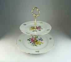 0N545 Bavaria porcelán emeletes gyümölcskínáló