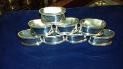 Ezüst 8 darabos szalvétagyűrű szett