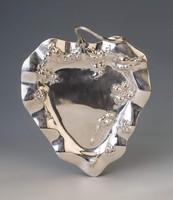 Ezüst szecessziós stílusú tálca