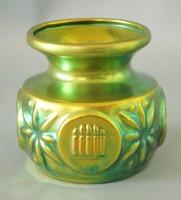 Ritka Zsolnay modern eozin váza(Kerámia kiállítás)