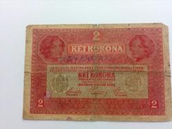 1917-es 2 korona (BÉLYEGZETT )