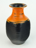0N679 Régi hibátlan Gorka Lívia kerámia váza 16 cm