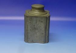 0N480 Antik jelzett Brit ón fűszertartó tégely