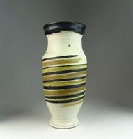 0N548 Régi hibátlan Gorka Lívia kerámia váza 23 cm