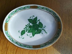 Herendi zöld Apponyi gyűrűtálca