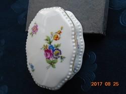 Antik Rosenthal -1926-virágmintás bonbonier-10,3 x 7,5 x 4 cm