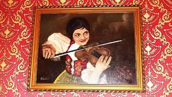Olaj vászon festmèny  69x54 cm