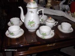 Herendi teáskészlet és egy herendi gyertyatartó