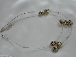 Ezüst színű bizsu nyaklánc