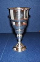 Antik ezüst  talpas pohár
