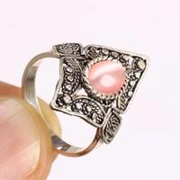 Ezüst gyűrű rózsaszin topàz kővel