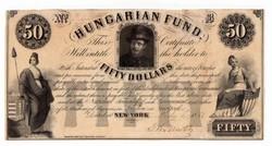 1852 50 dollár Kossuth