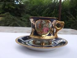 Csodás Ilmenau kávéscsésze 22 k-os dús aranyozás,ép szépség