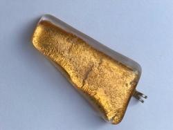 Muránói medál arany lemezzel