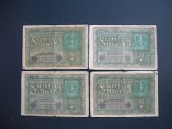4 darab 50 márka 1919 LOT !!!