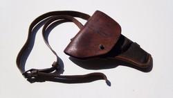 Orosz TT pisztolytáska eredeti bőr szíjjal + 2 db töltő léc