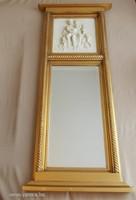 Jelenetes fali tükör + gyönyörű dombormintás kép!