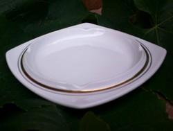 Alföldi elegáns, aranyozott  és nemesen egyszerű hamutál, 17,5 cm