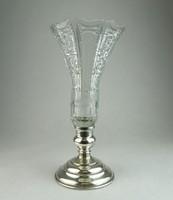 0N690 Antik ezüst talpas kristály kehely 25.5 cm