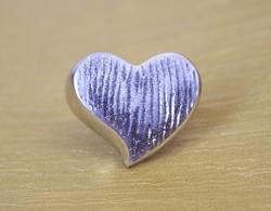Ezüst női gyűrű hatalmas szívvel