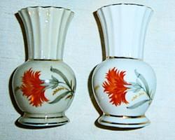 2 db antik Drasche 600 Ft/ db porcelán ibolya váza együtt