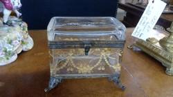 XIX. századi gyűrűtartó dobozka