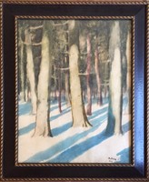 Juhász E. jelzéssel: Téli erdő (1920)