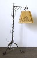 0N578 Antik nagyméretű kovácsoltvas állólámpa