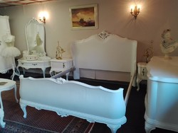 Fehér barokk hálószoba bútor garnitúra