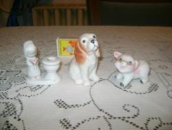 Bájos porcelán figura - két darab