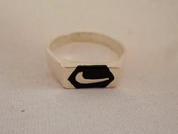 """Szép régi masszív """"Nike"""" ezüstgyűrű"""
