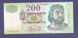 "200 Forint 2001  "" FD "" Sorozat UNC "